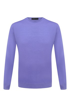 Мужской шерстяной джемпер PRADA фиолетового цвета, арт. UMM984-C5W-F0014   Фото 1