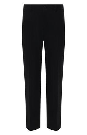Мужские брюки PRADA черного цвета, арт. SPE12-1KJW-F0002-202   Фото 1 (Длина (брюки, джинсы): Стандартные; Материал внешний: Синтетический материал; Случай: Повседневный; Стили: Кэжуэл)