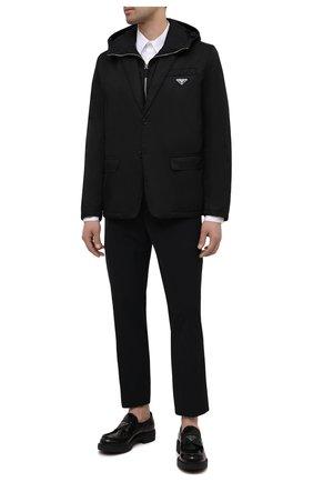 Мужской брюки PRADA черного цвета, арт. SPE12-1KJW-F0002-202   Фото 2