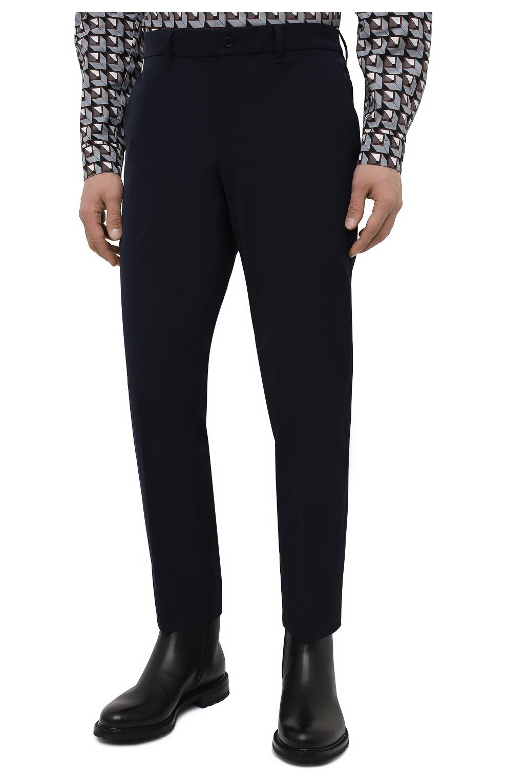 Мужские брюки PRADA синего цвета, арт. SPE12-1KJW-F0124-202 | Фото 3