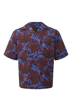Мужская хлопковая рубашка PRADA бордового цвета, арт. UCS339-1W6W-F0007-201 | Фото 1