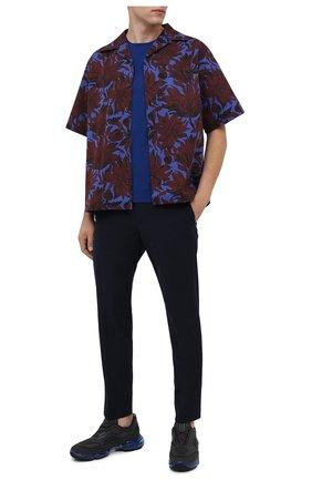 Мужская хлопковая рубашка PRADA бордового цвета, арт. UCS339-1W6W-F0007-201 | Фото 2