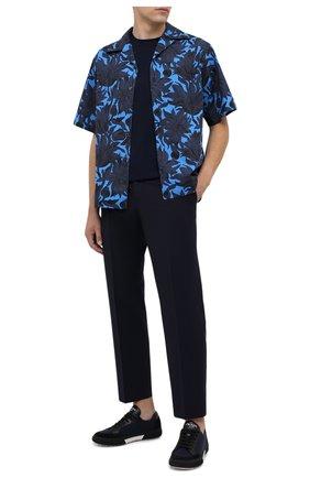 Мужские шерстяные брюки PRADA синего цвета, арт. UP0100-1W1T-F0124-202 | Фото 2