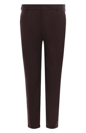 Мужские хлопковые брюки PRADA бордового цвета, арт. SPD91-1BJ2-F0051-172 | Фото 1