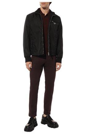 Мужские хлопковые брюки PRADA бордового цвета, арт. SPD91-1BJ2-F0051-172 | Фото 2