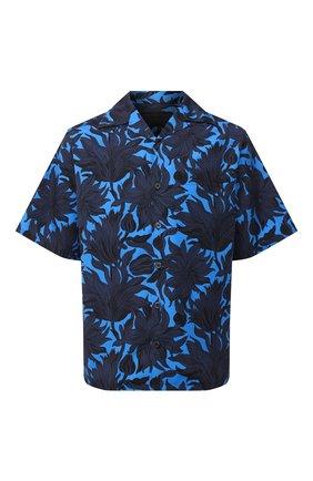 Мужская хлопковая рубашка PRADA синего цвета, арт. UCS339-1W6W-F0216-201 | Фото 1