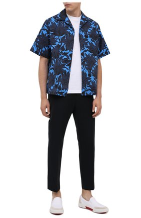 Мужская хлопковая рубашка PRADA синего цвета, арт. UCS339-1W6W-F0216-201 | Фото 2