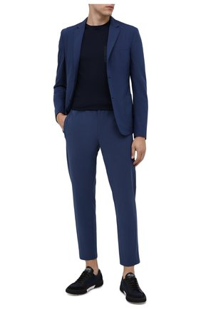 Мужские брюки PRADA синего цвета, арт. SPF94-1KJW-F0YNV-191 | Фото 2