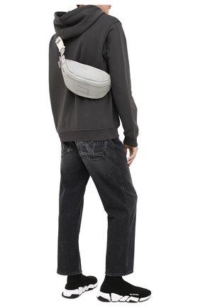 Мужские текстильные кроссовки speed 2.0 BALENCIAGA черно-белого цвета, арт. 617239/W1702 | Фото 2