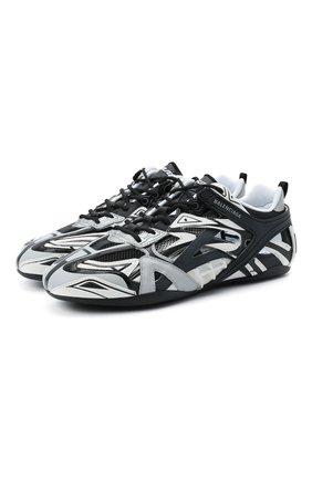 Мужские комбинированные кроссовки drive BALENCIAGA серого цвета, арт. 624343/W2FD1 | Фото 1