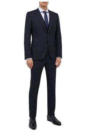 Мужская хлопковая сорочка BOSS голубого цвета, арт. 50439724 | Фото 2