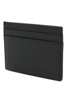Мужской кожаный футляр для кредитных карт SAINT LAURENT черного цвета, арт. 485631/BTY0U | Фото 2