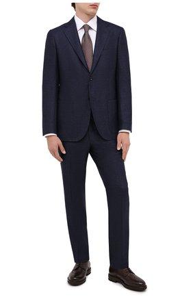 Мужской шерстяной костюм KITON темно-синего цвета, арт. UA81K01T52 | Фото 1