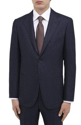 Мужской шерстяной костюм KITON темно-синего цвета, арт. UA81K01T52 | Фото 2