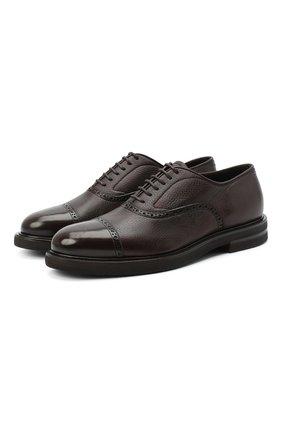 Мужские кожаные оксфорды H`D`S`N BARACCO темно-коричневого цвета, арт. 58303.1*   Фото 1
