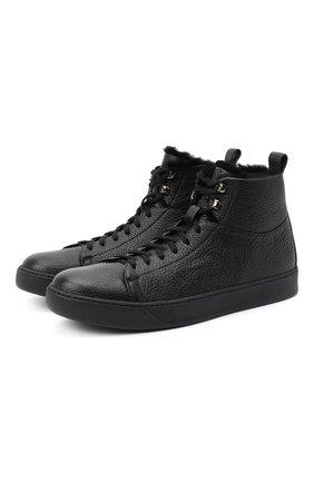 Мужские кожаные ботинки H`D`S`N BARACCO черного цвета, арт. IVAN.CMN.0* | Фото 1