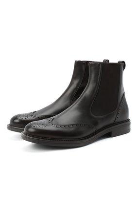 Мужские кожаные челси W.GIBBS темно-коричневого цвета, арт. 3169014/0214 | Фото 1