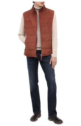 Мужские кожаные челси W.GIBBS темно-коричневого цвета, арт. 3169014/0214 | Фото 2
