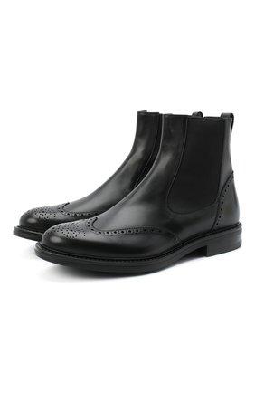Мужские кожаные челси W.GIBBS черного цвета, арт. 3169014/0214 | Фото 1
