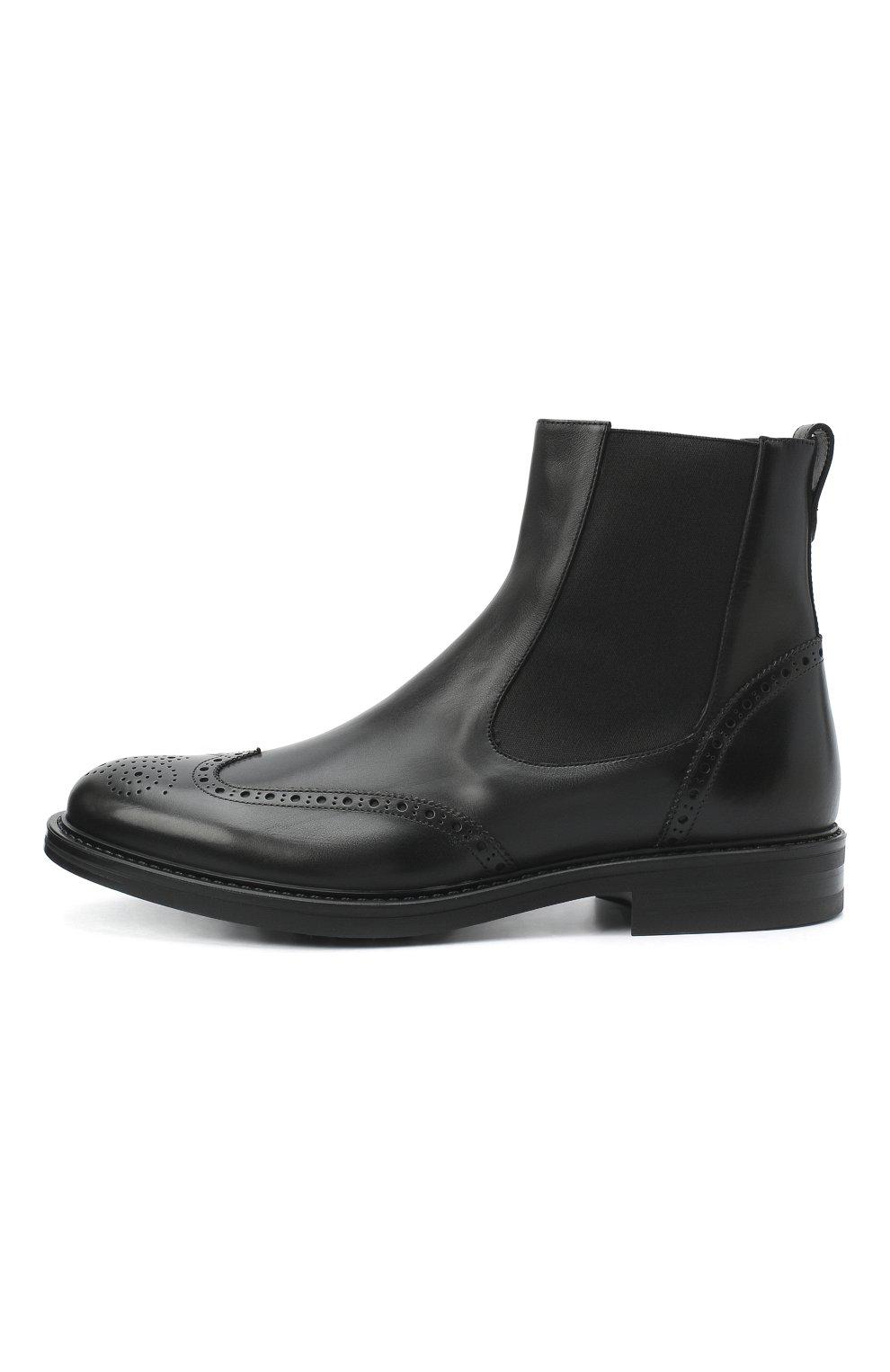 Мужские кожаные челси W.GIBBS черного цвета, арт. 3169014/0214 | Фото 3