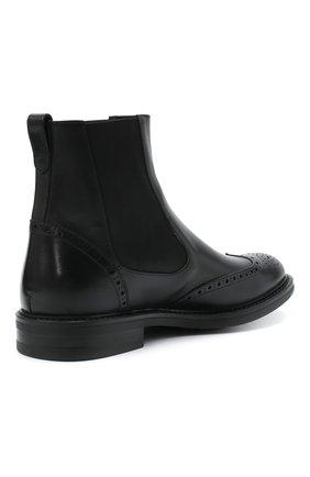 Мужские кожаные челси W.GIBBS черного цвета, арт. 3169014/0214 | Фото 4