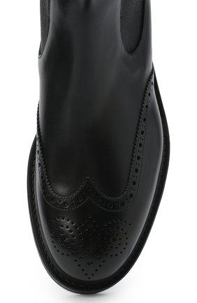 Мужские кожаные челси W.GIBBS черного цвета, арт. 3169014/0214 | Фото 5