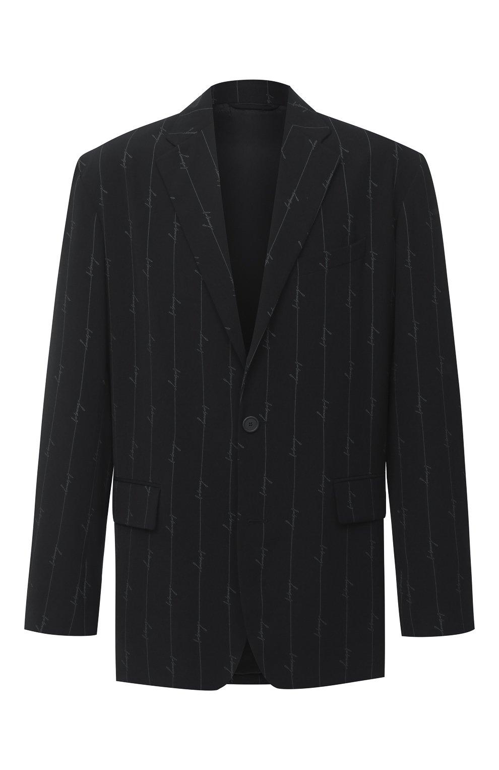 Мужской пиджак BALENCIAGA черного цвета, арт. 629328/TILT7 | Фото 1