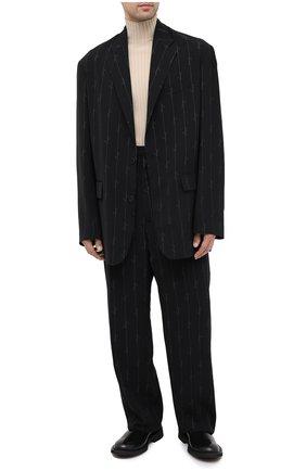 Мужской пиджак BALENCIAGA черного цвета, арт. 629328/TILT7 | Фото 2