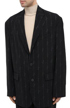 Мужской пиджак BALENCIAGA черного цвета, арт. 629328/TILT7 | Фото 4