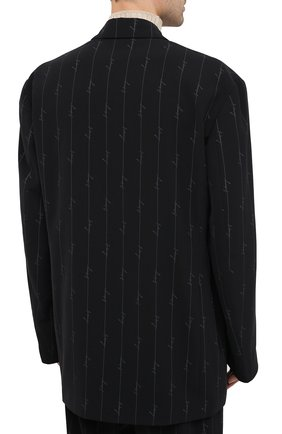 Мужской пиджак BALENCIAGA черного цвета, арт. 629328/TILT7 | Фото 5