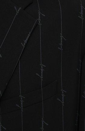 Мужской пиджак BALENCIAGA черного цвета, арт. 629328/TILT7 | Фото 6