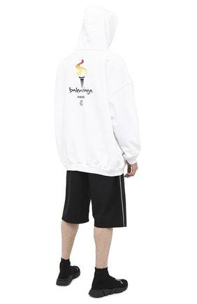 Мужской хлопковое худи BALENCIAGA белого цвета, арт. 620973/TIV45 | Фото 2