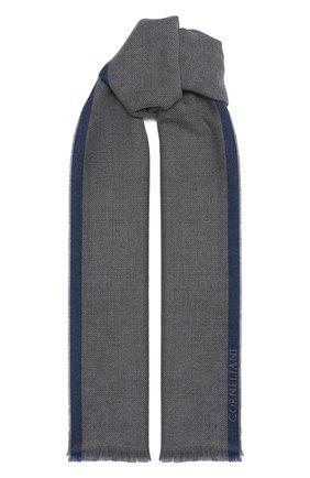 Мужской шарф из шерсти и кашемира CORNELIANI темно-серого цвета, арт. 86B389-0829015/00 | Фото 1
