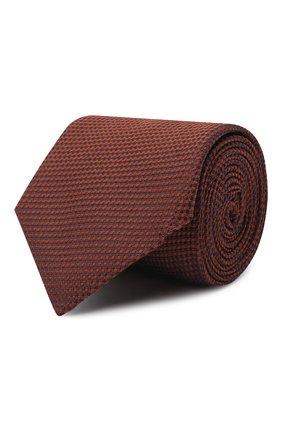 Мужской шелковый галстук CORNELIANI коричневого цвета, арт. 86U302-0820305/00 | Фото 1