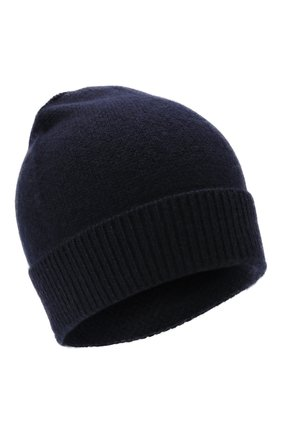 Мужская шапка из кашемира и шелка IL BORGO CASHMERE темно-синего цвета, арт. 56-156G0   Фото 1 (Материал: Шерсть, Кашемир, Текстиль, Шелк; Кросс-КТ: Трикотаж)