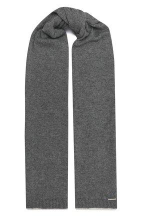 Мужской кашемировый шарф IL BORGO CASHMERE серого цвета, арт. 56-157G0 | Фото 1