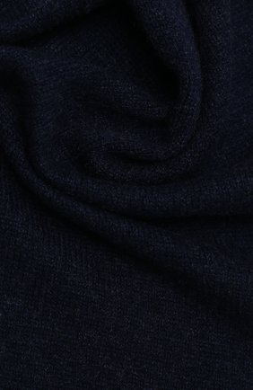 Мужской кашемировый шарф IL BORGO CASHMERE темно-синего цвета, арт. 56-157G0   Фото 2