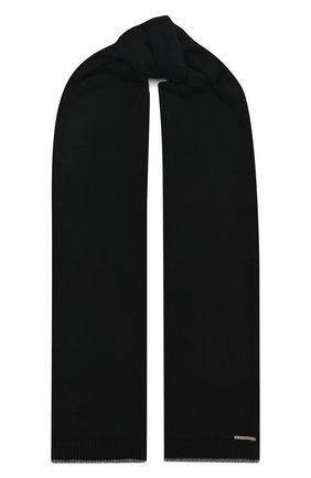 Мужской кашемировый шарф IL BORGO CASHMERE черного цвета, арт. 56-157G0 | Фото 1