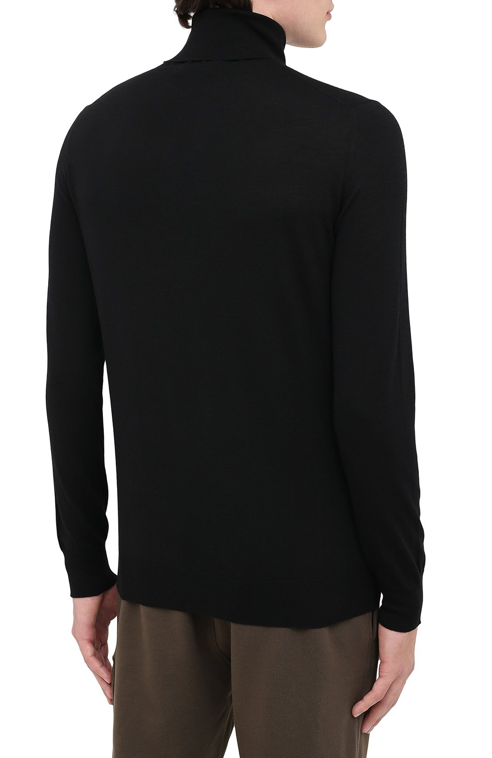 Мужской шерстяная водолазка IL BORGO CASHMERE черного цвета, арт. 54-1211G0 | Фото 4 (Материал внешний: Шерсть; Рукава: Длинные; Принт: Без принта; Длина (для топов): Стандартные; Стили: Классический; Мужское Кросс-КТ: Водолазка-одежда)