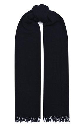 Мужской шарф из шерсти и шелка ALTEA темно-синего цвета, арт. 2060123 | Фото 1