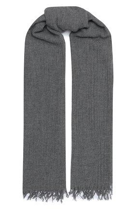 Мужской шарф из шерсти и шелка ALTEA серого цвета, арт. 2060123 | Фото 1