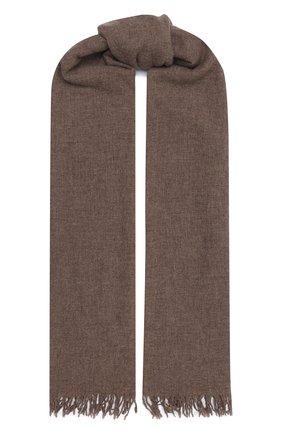 Мужской шарф из шерсти и шелка ALTEA бежевого цвета, арт. 2060123 | Фото 1