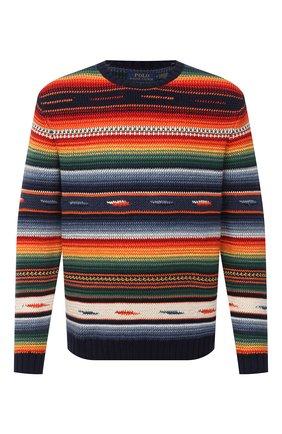Мужской свитер из хлопка и льна POLO RALPH LAUREN разноцветного цвета, арт. 710798342 | Фото 1
