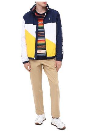 Мужской свитер из хлопка и льна POLO RALPH LAUREN разноцветного цвета, арт. 710798342 | Фото 2