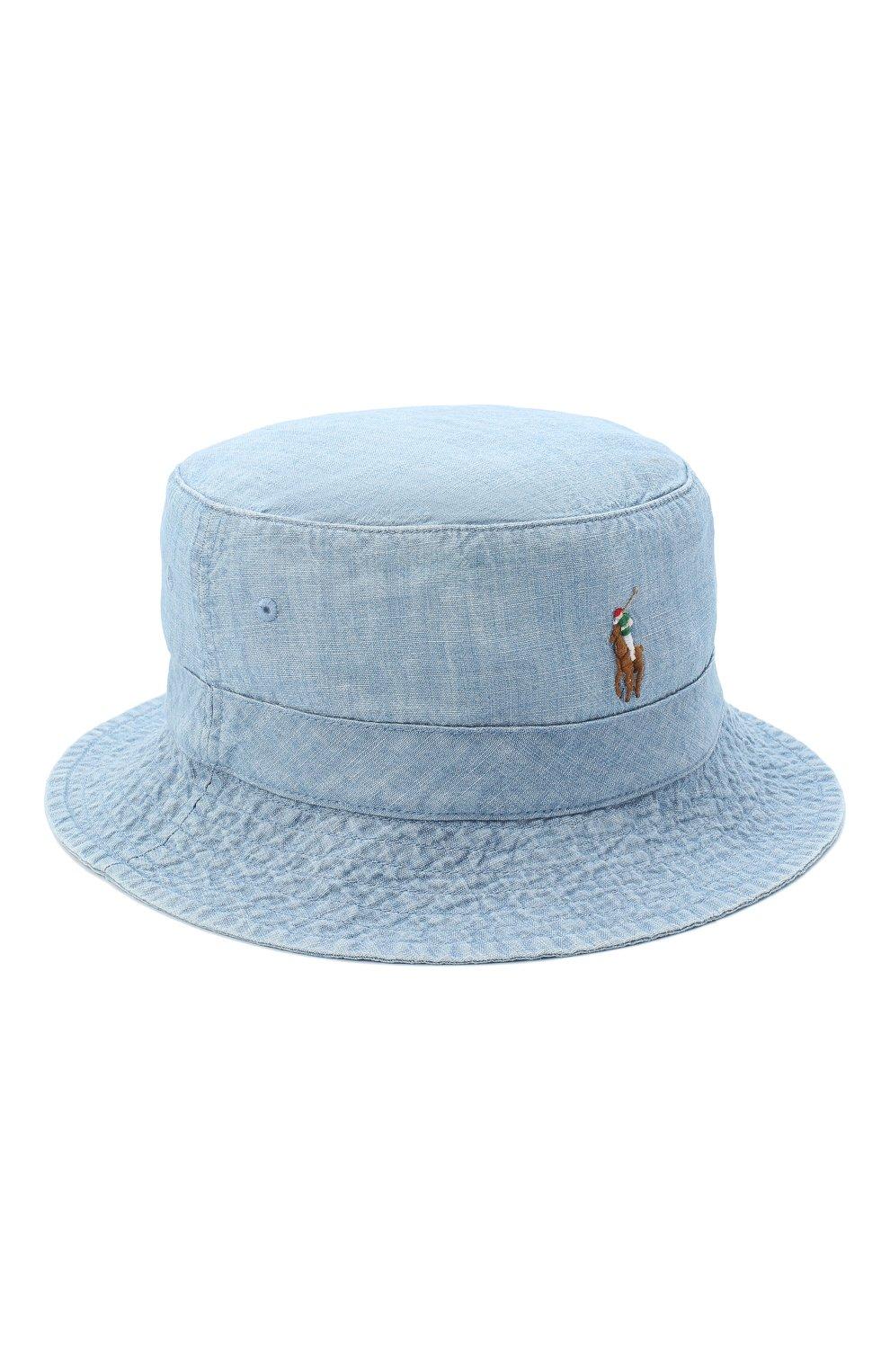 Мужская хлопковая панама POLO RALPH LAUREN голубого цвета, арт. 710798566 | Фото 1