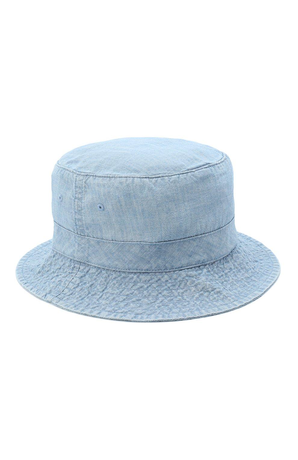 Мужская хлопковая панама POLO RALPH LAUREN голубого цвета, арт. 710798566 | Фото 2