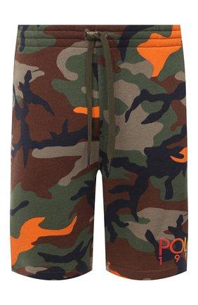 Мужские хлопковые шорты POLO RALPH LAUREN хаки цвета, арт. 710800162 | Фото 1