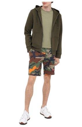 Мужские хлопковые шорты POLO RALPH LAUREN хаки цвета, арт. 710800162 | Фото 2