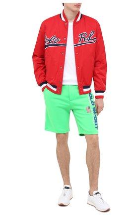 Мужские шорты POLO RALPH LAUREN зеленого цвета, арт. 710800487 | Фото 2