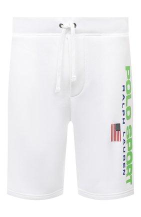 Мужские шорты POLO RALPH LAUREN белого цвета, арт. 710800487 | Фото 1